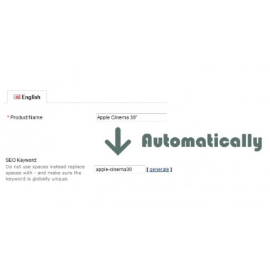 SEO Slug - Automatically - Auto fill SEO keyword for SEO url